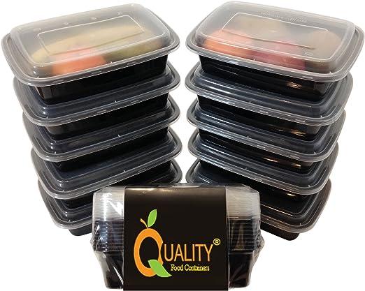 Paquete de 10 piezas de contenedores para comida de plástico ...