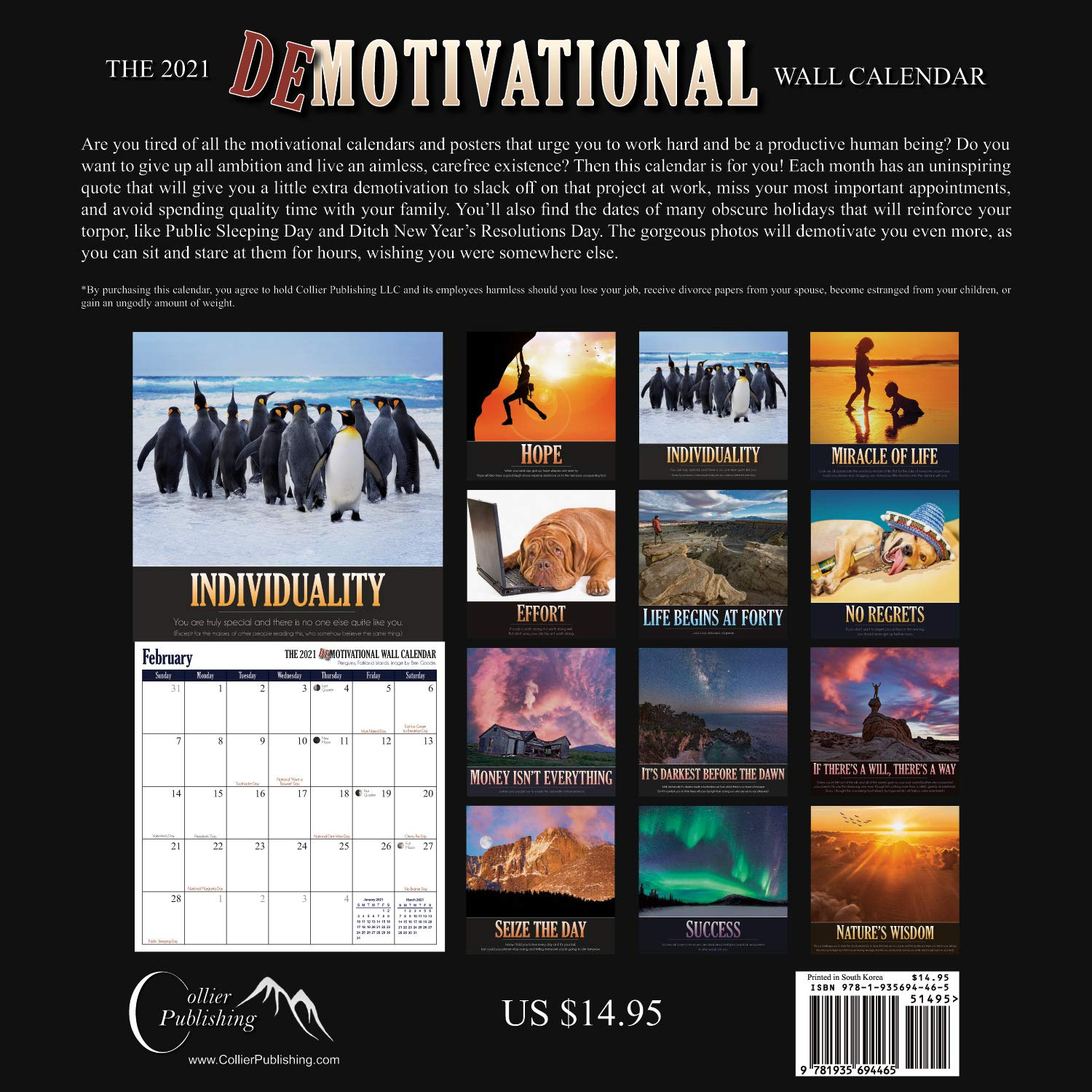 The 2021 Demotivational Wall Calendar (A Funny, Uninspirational