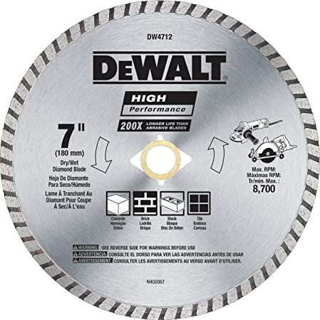 "DeWalt DW47452L 4.5/"" Diamond Blade for Concrete Brick Block A1"