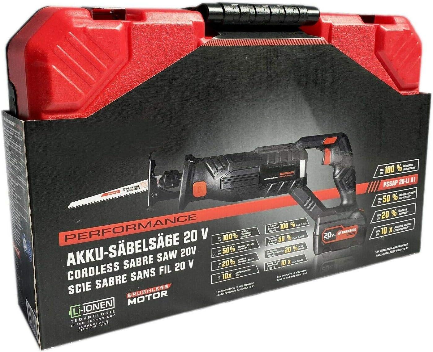 LG Parkside ® Batterie-Scie PSSA 20-li a1 NOUVEAU /& NEUF dans sa boîte sans batterie