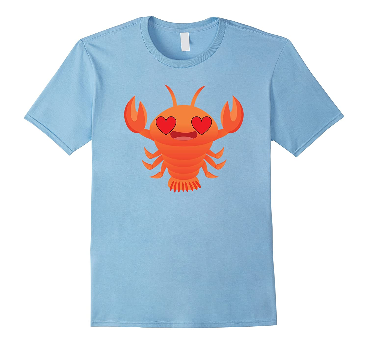 Lobster Emoji Heart Eye Shirt T-Shirt Tee-CL