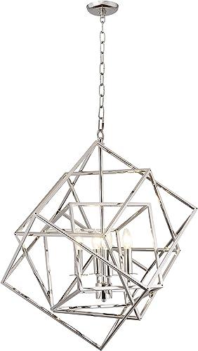 AA Warehousing LZ1183-4N 4 Light Chandelier in Nickel Finish
