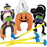 Fun Express Halloween Put Put Mini Golf Set (Includes Clubs and Balls and Holes) Halloween Games and Toys