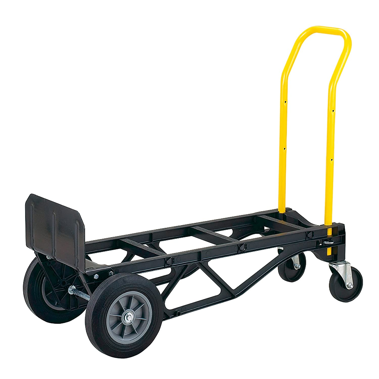 harper trucks 700 lb capacity glass filled nylon convertible hand truck and dolly with 10 flat free solid rubber wheels convertible dolly amazoncom - Convertible Hand Truck