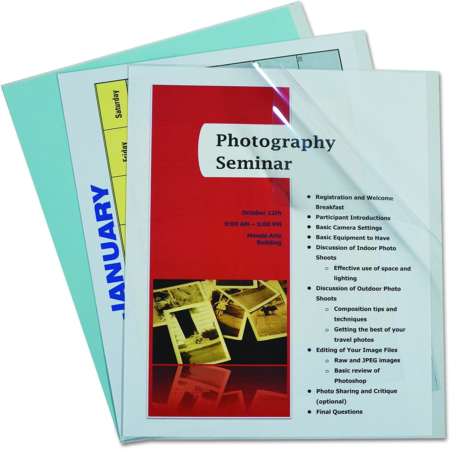 B0006ZIISU C-Line Clear Report Covers Only, Vinyl, For Use with Slide 'N Grip Binding Bars, 8.5 x 11 Inches, 100 per Box (31357) 81EJtY9aYfL