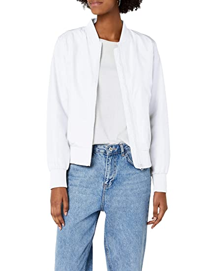 Urban Classic Women s Ladies Light Bomber Jacket Navy  Amazon.co.uk ... 9f2cb20905