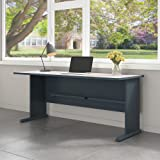 Series A 72W Desk in Slate and White Spectrum