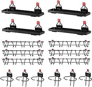 Rubbermaid Metal Shed Shelf (4-pack), Tool Rack (6-pack) & Tool Holder (6-pack)