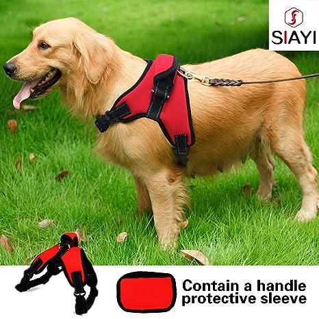 siayi perro arnés ajustable reflectante acolchado no Tire Arnés de ...