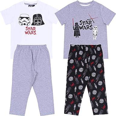 -:- Star Wars -:- Disney -:- 2 x Pijama Negra y Gris