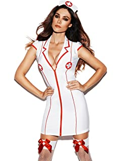 Sexy Women Nurse Uniform Ladies Sexy Lingerie Outfit Nurse Costume Fancy  Dress Hen Night Cosplay Dress