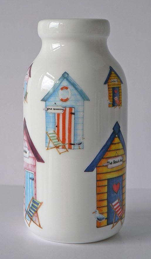 Mini diseño de caseta de playa botella de leche de cerámica decorada todos los redondo con