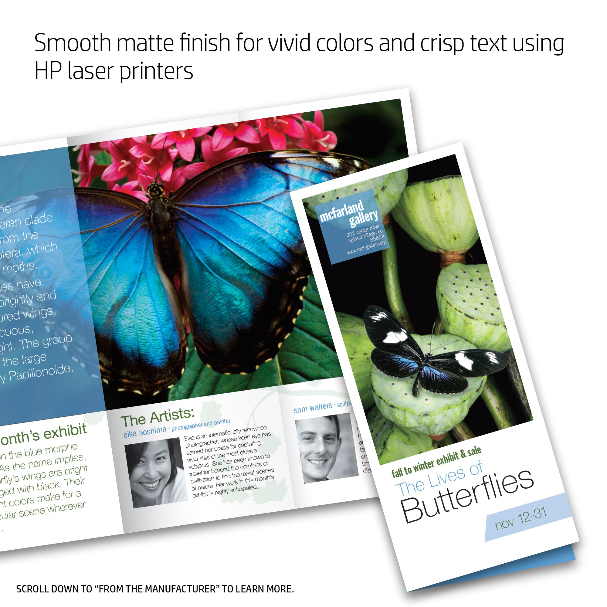 HP Q8824A Brochure Paper for Laser Printer, Matte, 8.5x11, 100 Sheets by HP (Image #4)