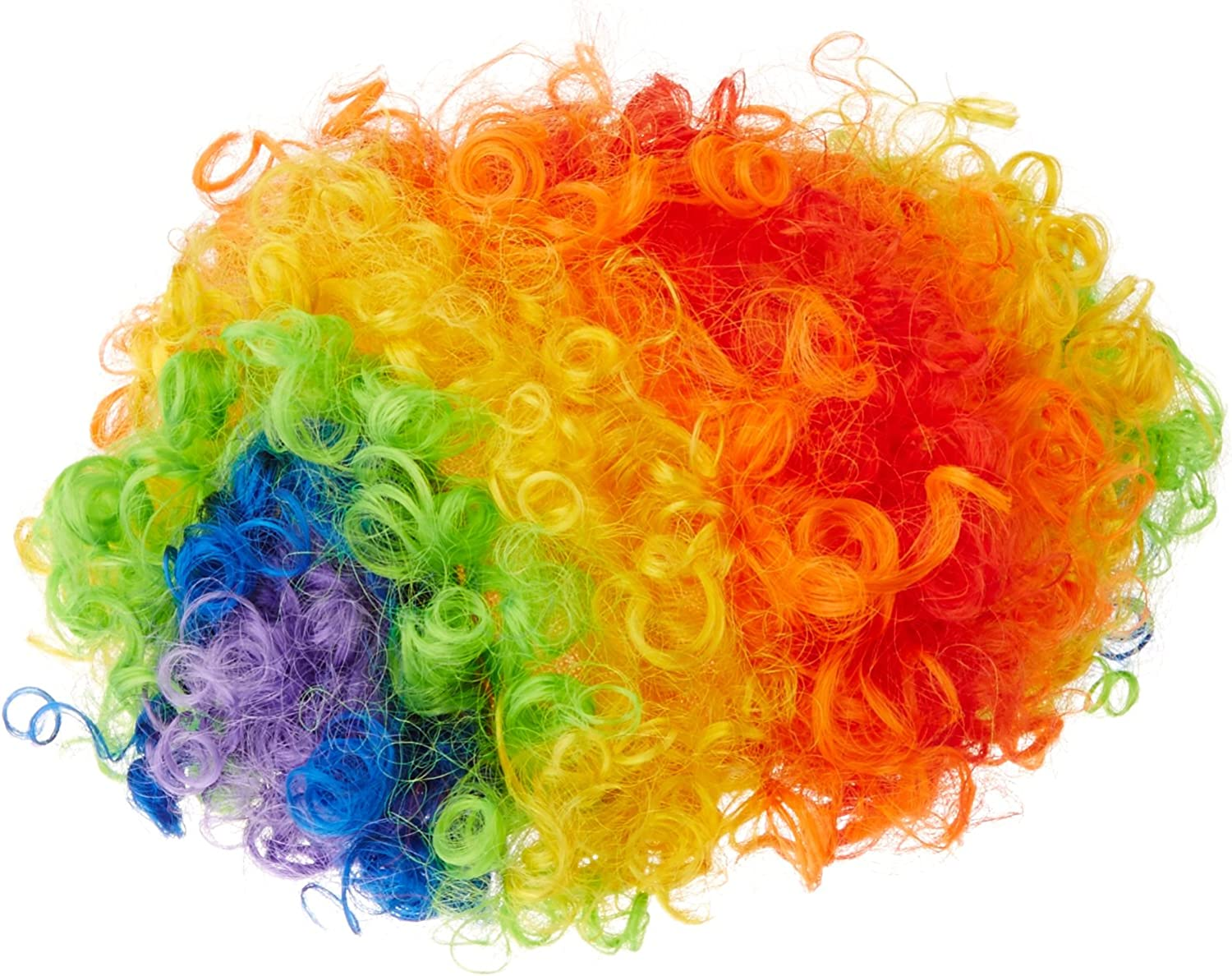 Beistle 60273 Rainbow Clown Wig