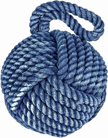 Cuerda náutica color 15Cm Tope de Puerta ~ Azul Cuerda Tope de puerta