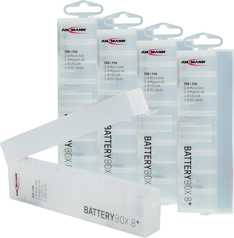 ANSMANN 5 x Caja para 8 Pilas AA/AAA Micro batería y SD-Tarjetas: Amazon.es: Electrónica
