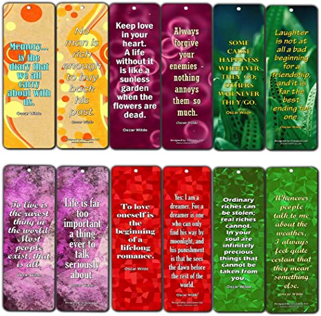 creanoso oscar wilde inspirational quotes bookmarks pack