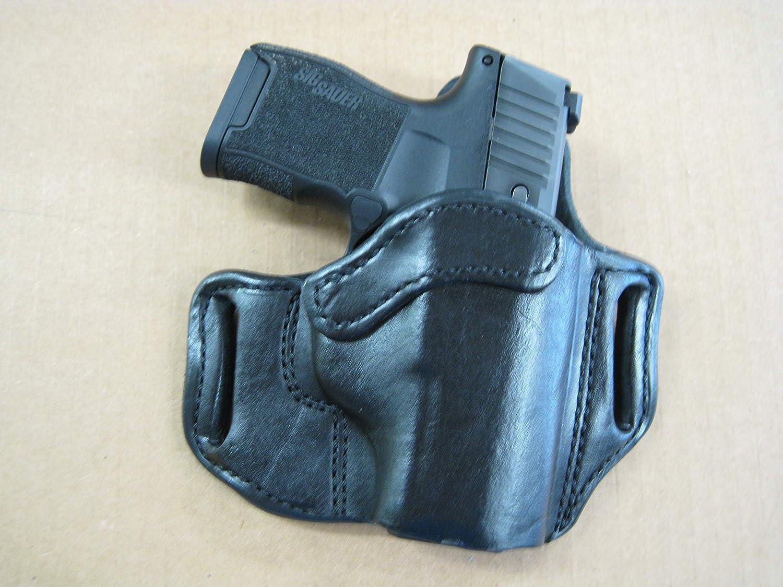 Azula Leather 2 Slot Pancake Belt Holster For Sig Sauer P365 P 365 BLACK RH