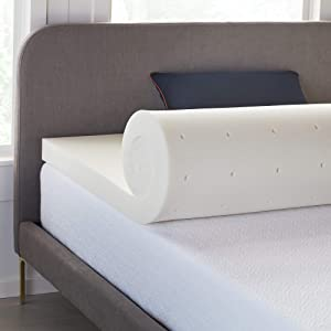 LUCID 3 Inch Ventilated Memory Foam Mattress Topper 3-Year Warranty - Full
