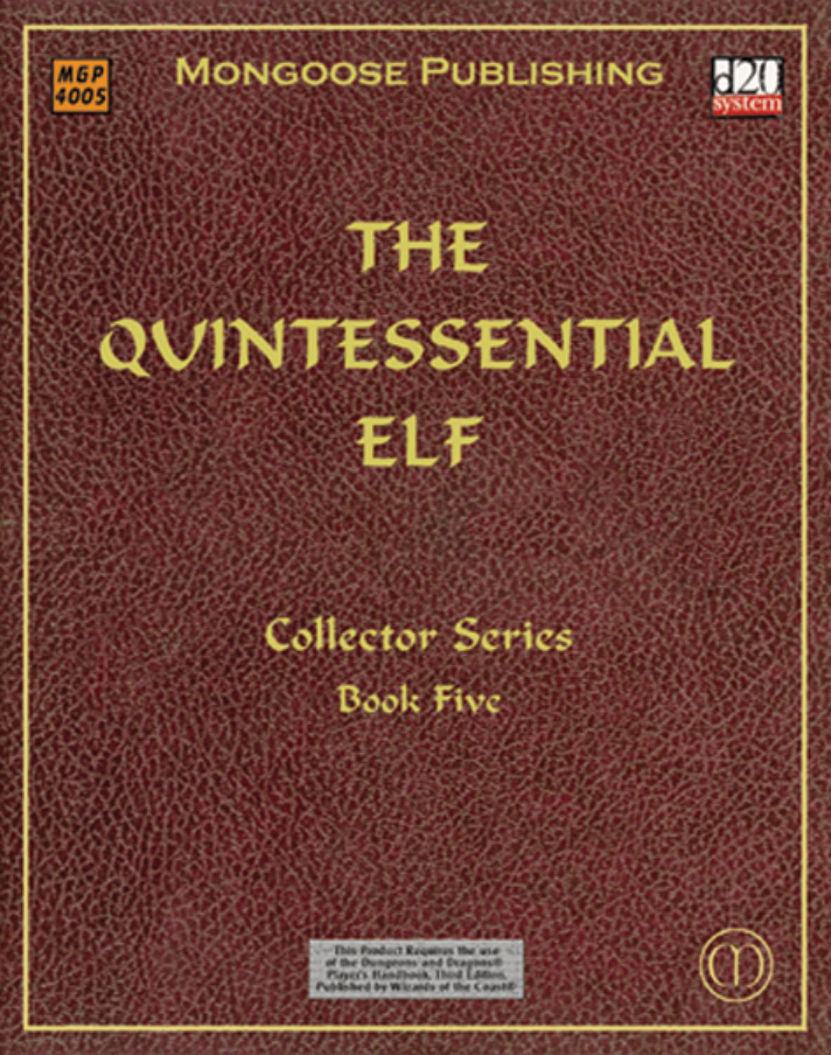 Download The Quintessential Elf (Dungeons & Dragons d20 3.0 Fantasy Roleplaying) pdf