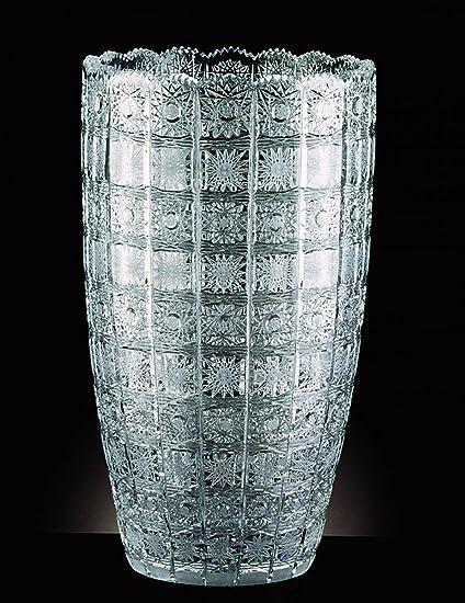 Amazon Czech Bohemian Crystal Glass Vase 16 H Decorative