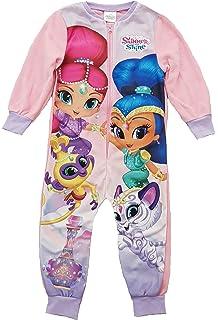 sleepsuit pjs 18mths- 5yrs pyjamas Girls SHIMMER and SHINE fleece all in one