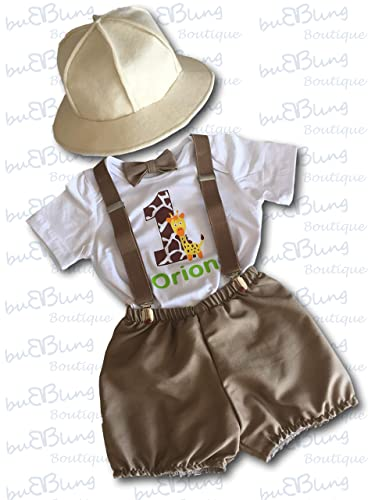 b028b6743b88b Amazon.com  Jungle Safari 1st Birthday Outfit Boy  Handmade