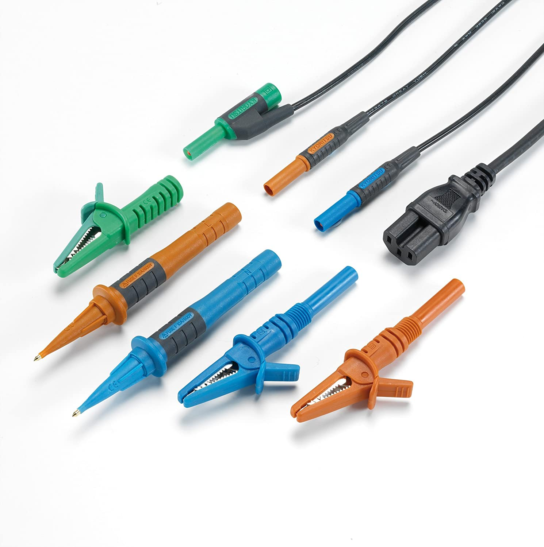Kewtech ACC016E Snap-lok 3-wire Board Test Leads, c/w IEC Mains ...
