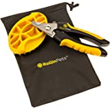 {FREE MASSAGE BRUSH and BAG INCLUDED} RollinPets Nail Pet Clipper, The Best Dog Nail Clippers, These Dog Grooming Clippers are Sharp and Easy to Trim Dog Nails With Safety Stop and Locking switch