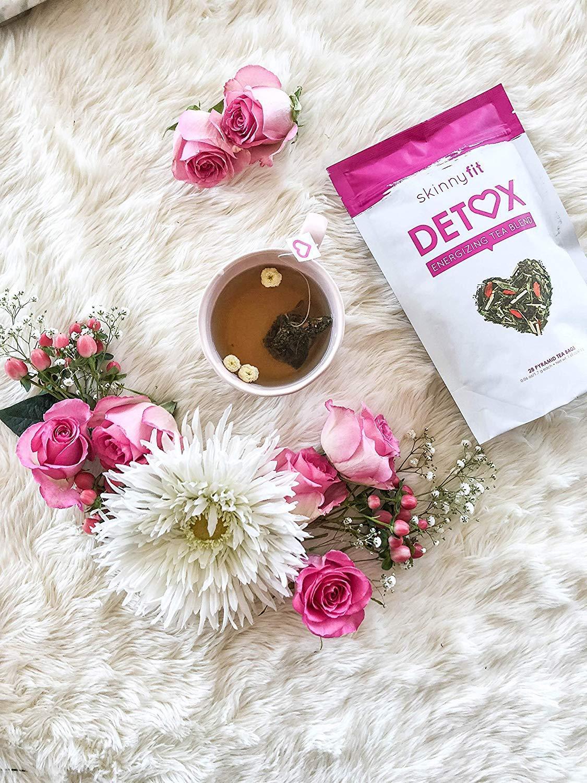 SkinnyFit Detox Tea: Cleanse w/All-Natural, Laxative-Free, Green Tea Leaves, Vegan, Gluten-Free, 28 Servings - Slimming Way to Release Toxins and Increase Energy w/Bonus Digital Welcome Guide by SkinnyFit (Image #7)