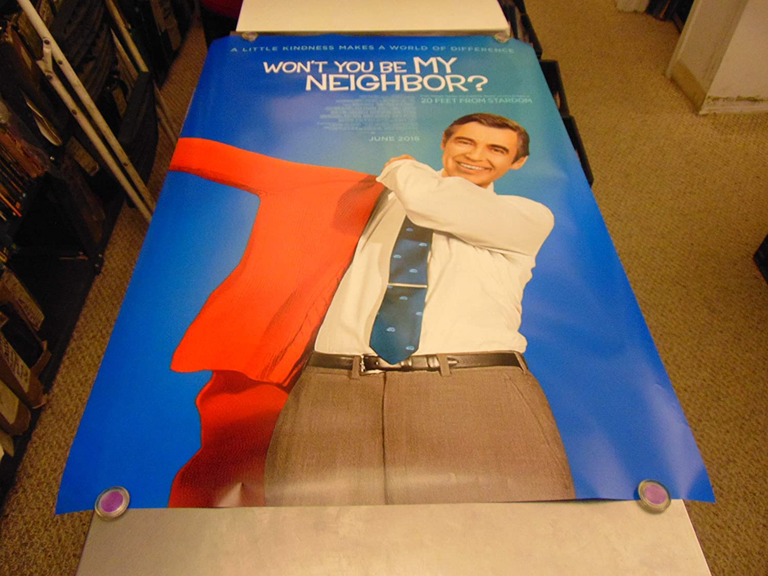 Won T You Be My Neighbor Orig U S One Sheet Movie Poster Mr Rogers Ds At Amazon S Entertainment Collectibles Store
