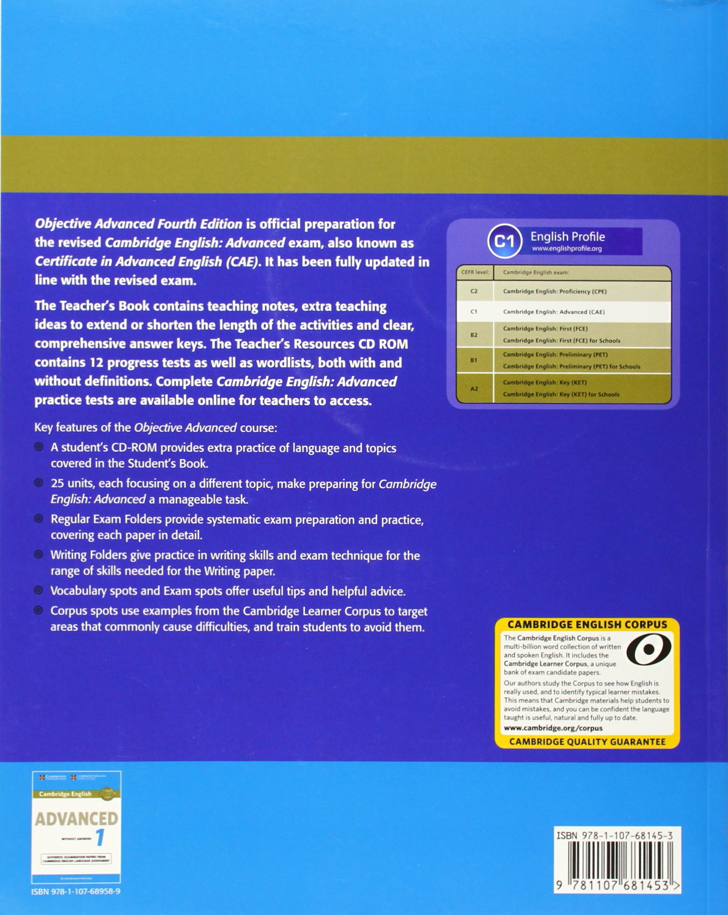 Objective Advanced Teachers Book with Teachers Resources CD-ROM ...