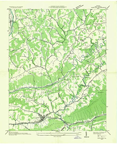 Amazon.com : YellowMaps Gate City VA topo map, 1:24000 Scale ...