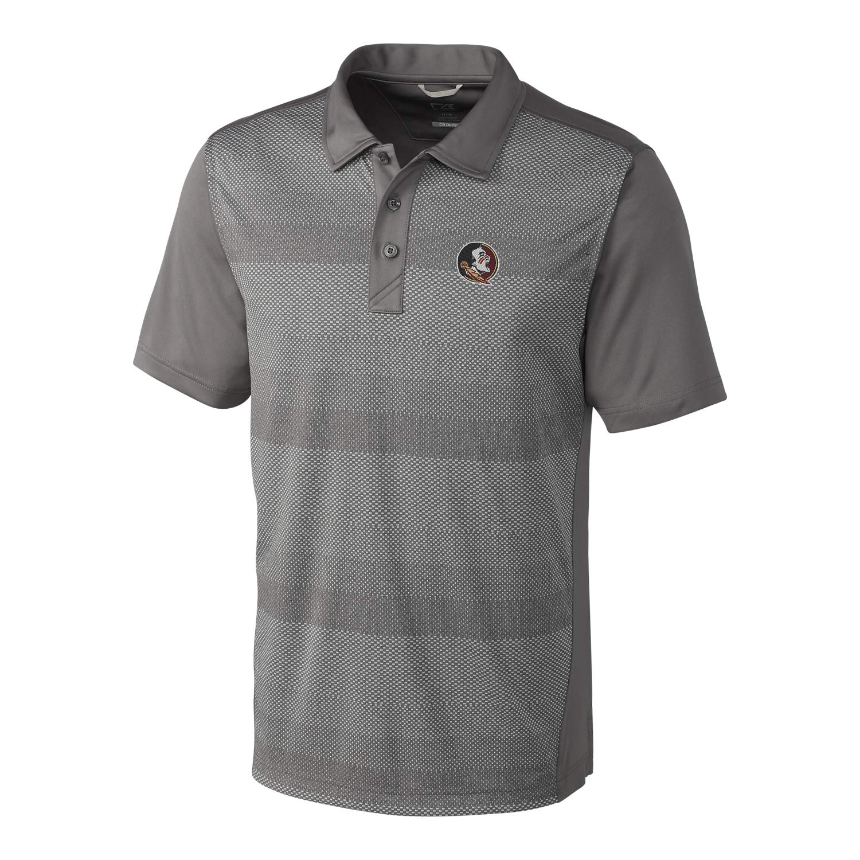 e055f9ea26c2f Elemental Grey Large NCAA Mens Short Sleeve Crescent Print Polo ...