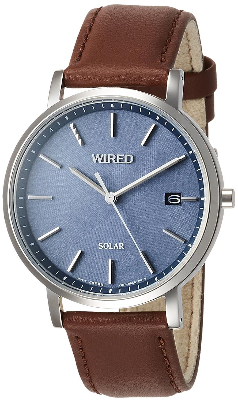 [ワイアード]WIRED 腕時計 WIRED 男女兼用ソーラー ジオメトリック柄ダイヤル AGAD091 B0752MYR19
