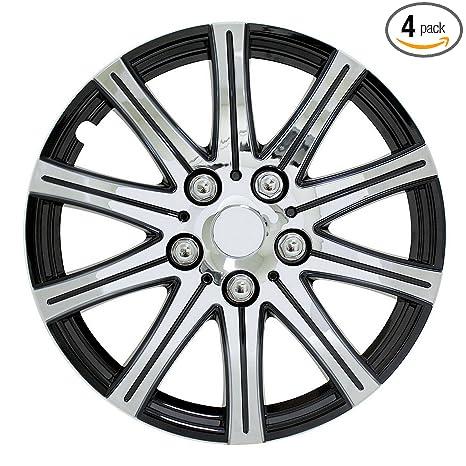 Amazon.com: Pilot Automotive WH528-15SE-BX Universal Fit Black and Silver 10-Spoke 15 Inch Wheel Covers - Set of 4: Automotive