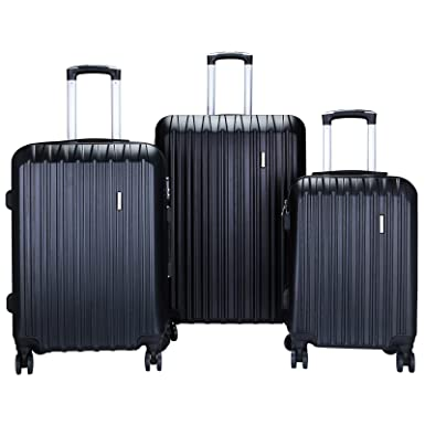 Amazon.com | BEST TRAVEL 4 Piece ABS Trolley Luggage Travel Set ...