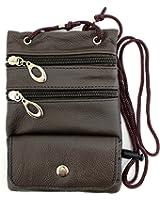 Enimay Women's Leather Crossbody Messenger Bag Modern Style Purse Zipper Pockets