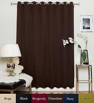 Amazon.com: Chocolate Wide Width Nickel Grommet Top Thermal ...