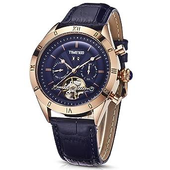 Time100 Reloj Hombre Pulsera Reloj mecánico automático Resistente al Agua 5 Bar (21)