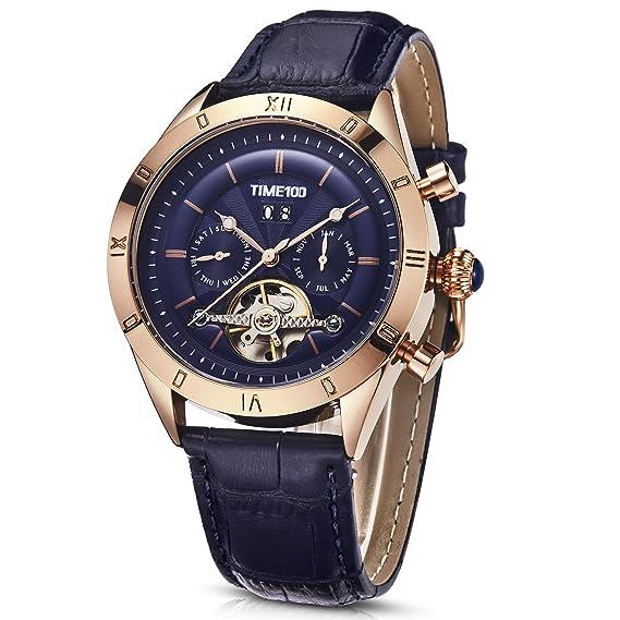 Time100 2018 reloj hombre pulsera Reloj mecánico automático resistente al agua 5 Bar (21)