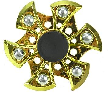 TOYLAND Spinarooz Hand Spinner Novelty Toy - Fidget Spinner - 3 en 1 - Salto, Rebote, Giro (Oro): Amazon.es: Juguetes y juegos