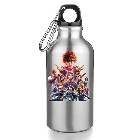 Stranger Things Jarra 500ML,Regalo Cantimplora Aislado Cafe para Llevar Bid/ón Botella adaysusdetalles Termo Botella de Agua