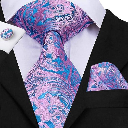 HYCZJH Corbata de Seda para Hombre Corbatas Florales para Hombres ...