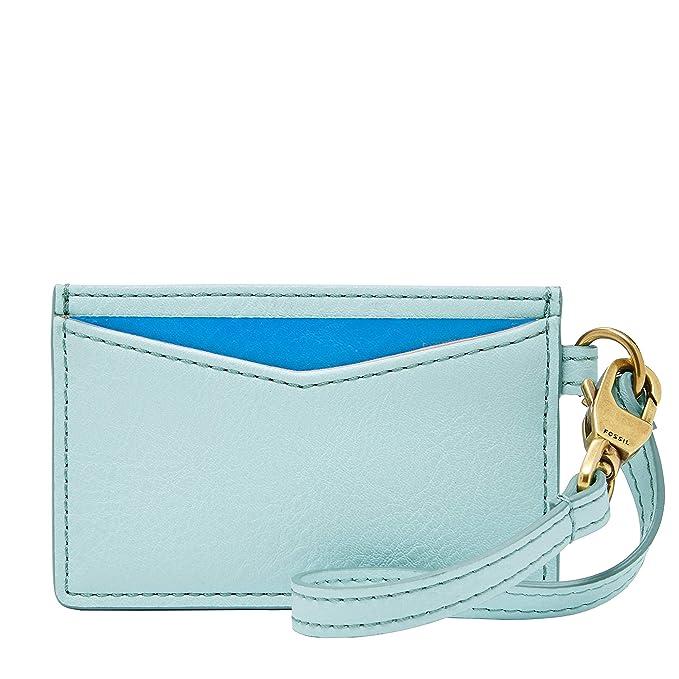 Amazon.com: Fossil Card Case Aqua Sky, talla única : Clothing