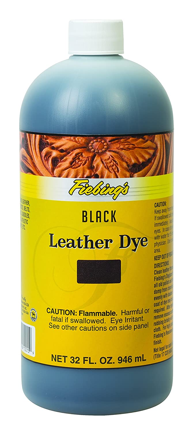 Fiebing's Leather Dye - Black, 32 Ounces Fiebing's 50-2047-BK