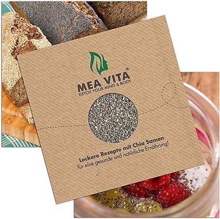 MeaVita Chia semillas libro de recetas: Amazon.es: Hogar