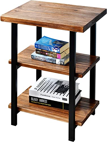 WELLAND 3-Tier High End Table | Rustic Side Table
