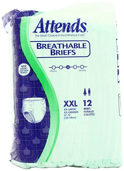 "Attends Breathable Briefs XX-Large 63"" - 70"" ..."