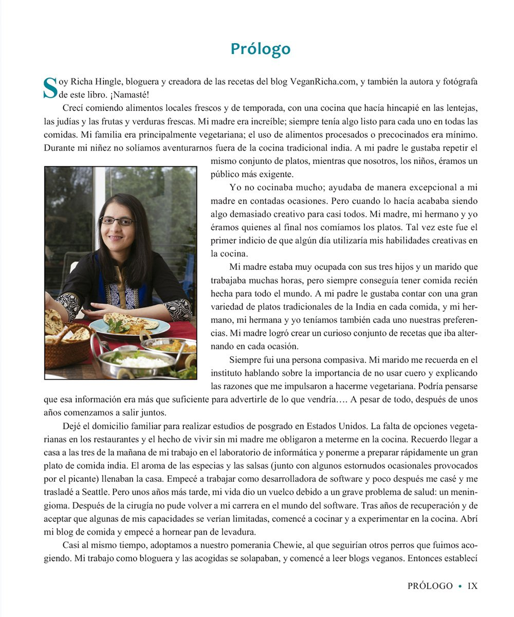 Cocina india vegana : recetas tradicionales y creativas para preparar en casa: Richa Hingle: 9788484455950: Amazon.com: Books